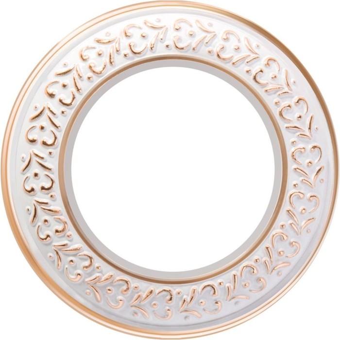 Рамка на 1 пост  WL70-frame-01, цвет белое золото