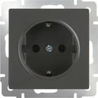 Розетка с заземлением  WL07-SKG-01-IP20, цвет серо-коричневый