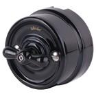 Переключатель одноклавишный  WL18-01-03, цвет черный, ретро