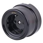 Розетка с заземлением и шторками  WL18-03-02, цвет черный, ретро