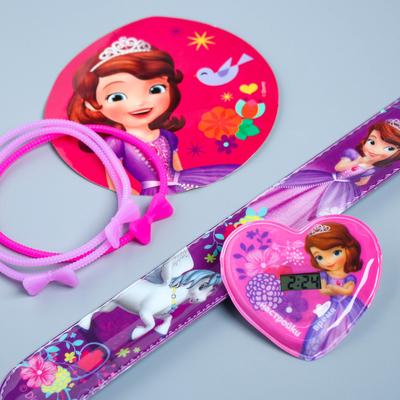 "Watches with stickers + bracelets ""Princess"", Sofia"