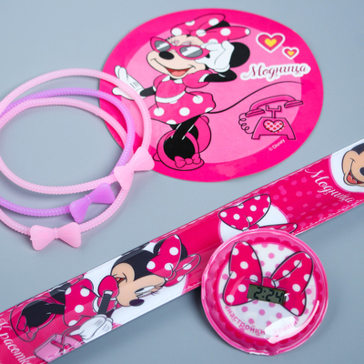 "Watches with stickers + bracelets ""Fashionista"", Minnie mouse"