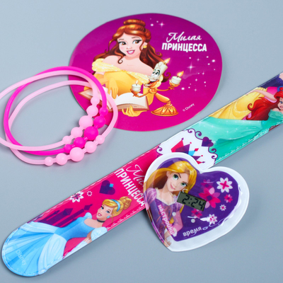 "Watches with stickers + bracelets ""Sweetheart Princess"", Princess"