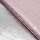 "Плёнка металлизированная ""Клетка"", цвет розовый, 50 х 70 см"