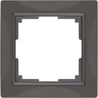 Рамка на 1 пост  WL03-Frame-01, цвет серо-коричневый