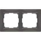 Рамка на 2 поста  WL03-Frame-02, цвет серо-коричневый