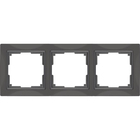 Рамка на 3 поста  WL03-Frame-03, цвет серо-коричневый
