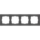 Рамка на 4 поста  WL03-Frame-04, цвет серо-коричневый