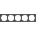 Рамка на 5 постов  WL03-Frame-05, цвет серо-коричневый