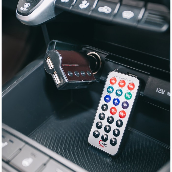 FM - трансмиттер TORSO, 12 В, 2 USB/Mp3/WMA/AUX/MicroSD, микс