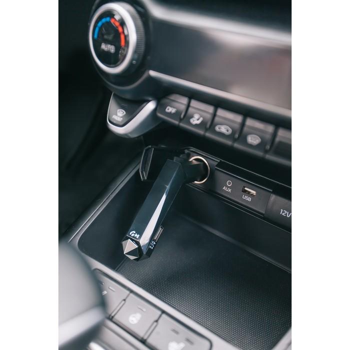 FM - трансмиттер, MP3/WMA/Bluetooth/USB/MicroSD, черный, FH-27