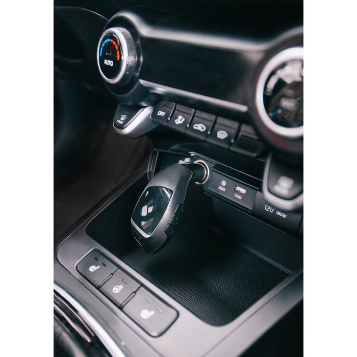 FM - трансмиттер, MP3/WMA/Bluetooth/USB/AUX/MicroSD, черный, FH-32