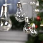 """НИТЬ """"Лампочки"""" 3 м, 10 пластиковых лампочек, LED-100-12V, МУЛЬТИ"""