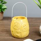 Candle holder ceramic Sunflowers MIX 11,5x10,5x10,5 cm