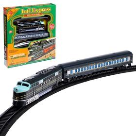Железная дорога 'Экспресс' со световыми эффектами, протяжённость пути 3,6 м Ош