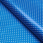 """Пленка с рисунком """"Горох на синем"""", синий, 50 х 70 см"""