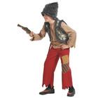 """Карнавальный костюм """"Разбойник с мушкетом"""" текстиль, рост 128-134 см  5043-M"""