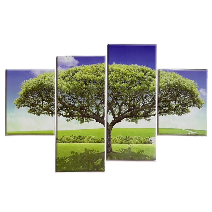 """Наклейка пластик """"Дерево"""" (набор 4 листа) 2 шт-15х20 см, 2 шт-15х35 см  40х15,5 см"""