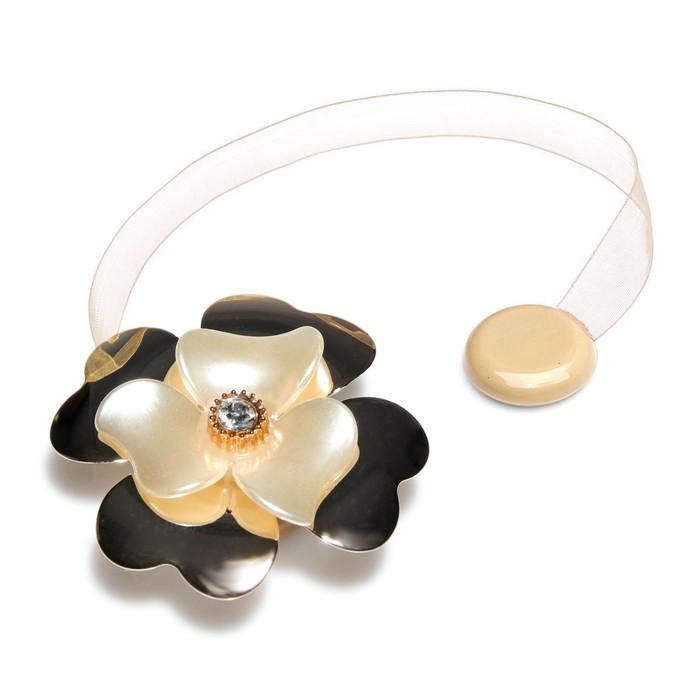 Подхват для штор «Цветок лилия», d = 6 см, цвет золотой