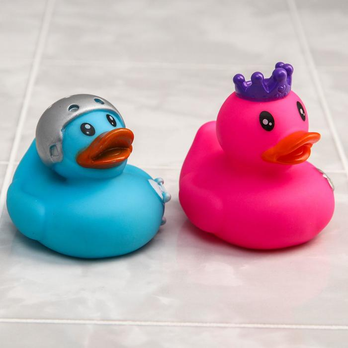 Игрушки для ванны «Уточки», набор 2 шт. - фото 105536251