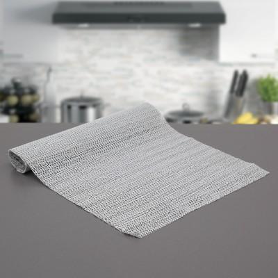 """Коврик противоскользящий сервировочный """"Комфорт"""" 30х150 см, цвет серый"""