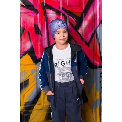 Спортивный костюм для мальчика, синий, рост 116-122 (30)
