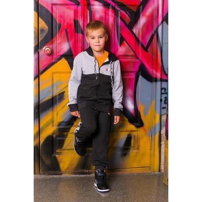 Спортивный костюм для мальчика, т-серый/св-серый, рост 116-122 (30)