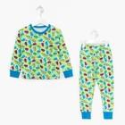 """Пижама для мальчика """"Машины и Звёзды"""", цвет зелёный МИКС, рост 98 см"""