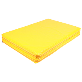 Мат 100 x 75 x 5 см, 1 сложение, винилискожа, 18 кг/м3, цвет жёлтый