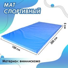 Мат 200 х 100 х 5 см, винилискожа, 18 кг/м3, цвет синий