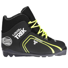 Ski boots TREK Level 1 SNS, black, logo lime neon, size 40