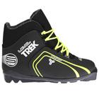 Ботинки лыжные TREK Level 1 SNS, цвет чёрный, лого лайм неон, размер 45