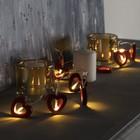"""Гирлянда """"Нить"""", 1.5 м, с насадками """"Сердце красное"""", LED-10-3V, 2*АА, фиксинг, нить прозрачная, свечение тёплое белое"""