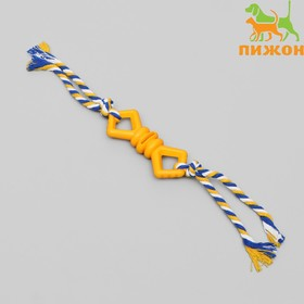 Chewing toy with rope Bow, 11 cm, mix colors