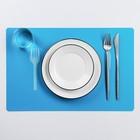 """Салфетка кухонная 42х28 см """"Кушать подано"""", цвет синий"""