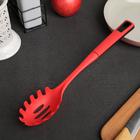 """Ложка для спагетти 33,5 см """"Мак"""", цвет красный"""