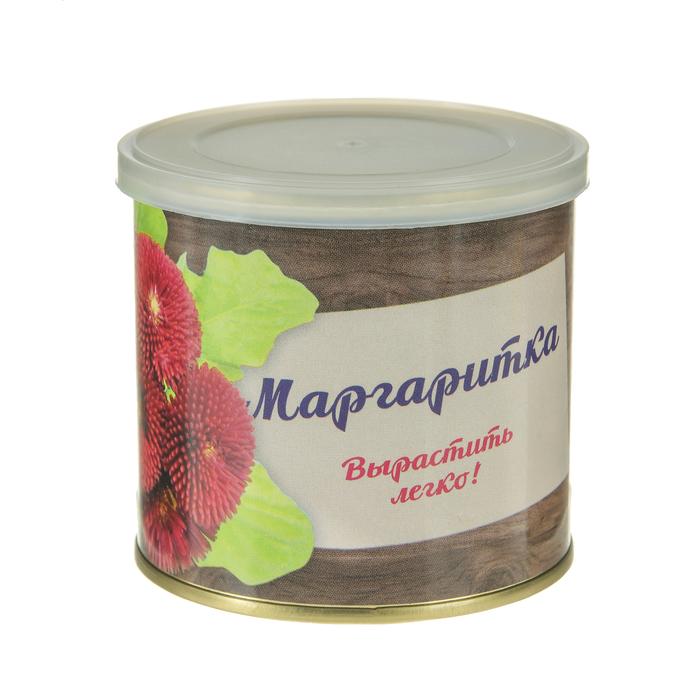 "Растущая травка ""Мини-цветок в банке ""Маргаритка"""