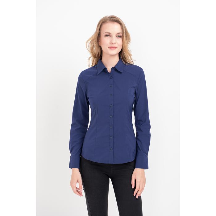 Рубашка женская, цвет тёмно-синий, размер 44
