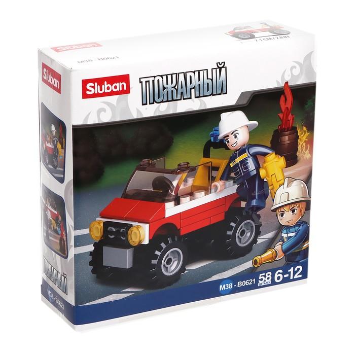 Конструктор «Пожарный квадроцикл», 58 деталей - фото 76538164