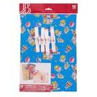 """Набор для упаковки, """"Детский праздник"""", крафт 0,7 х 1 м х 2, лента 15 мм х 3 м х 4"""