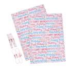 Набор для упаковки, HAPPY BIRTHDAY, крафт 0,7 х 1 м х 2, лента 15 мм х 3 м х 4