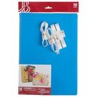 Набор для упаковки, синий, крафт 0,7 х 1 м х 2, лента 15 мм х 3 м х 4
