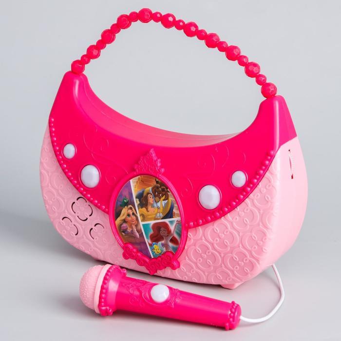 """Музыкальный микрофон-сумочка """"Принцессы"""" свет, звук"""