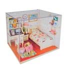 """Интерьерный домик - миниатюра, своими руками """"Спальня студента"""" со светом"""