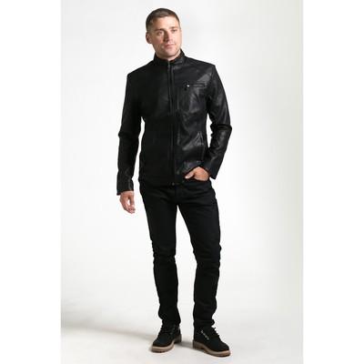 Куртка мужская на молнии, размер 48 , цвет чёрный