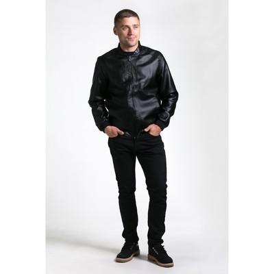 Бомбер мужской, размер 48, цвет чёрный