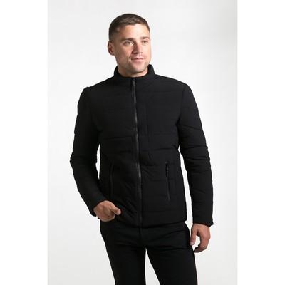 Куртка мужская утеплённая, р 46, цв.чёрный