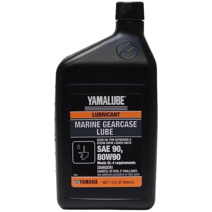 Трансмиссионное масло Yamaha Yamalube Marine Gearcase Lube 80W-90, 1 л, ACCGEARLUBQT