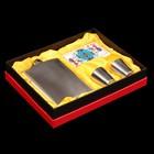 Подарочный набор 4 в 1: фляжка хромированная 240 мл, 2 рюмки, колода карт