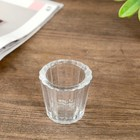 """Glass candle holder 1 candle """"Cup"""" transparent 6,4x6,8x6,8 cm"""
